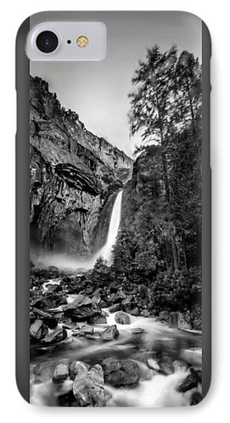 Yosemite Waterfall Bw IPhone 7 Case by Az Jackson