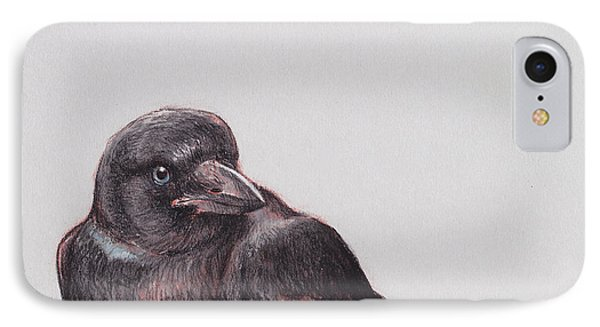 Young Crow 2 IPhone Case by Tracie Thompson