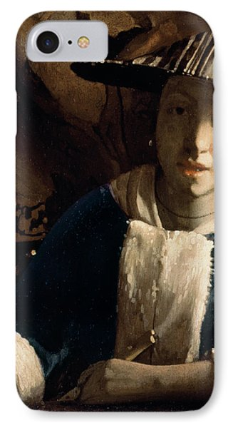 Young Girl With A Flute Phone Case by Jan Vermeer