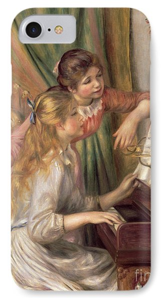Young Girls At The Piano IPhone Case by Pierre Auguste Renoir