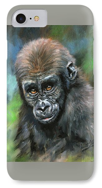 Young Gorilla IPhone 7 Case by David Stribbling