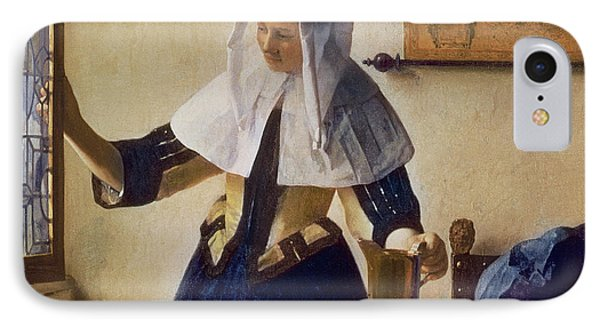 Young Woman With A Water Jug IPhone Case by Jan Vermeer
