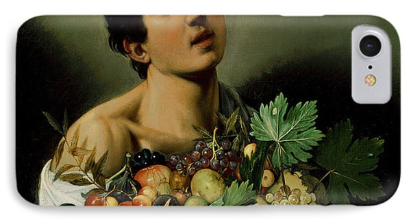 Youth With A Basket Of Fruit IPhone Case by Michelangelo Merisi da Caravaggio