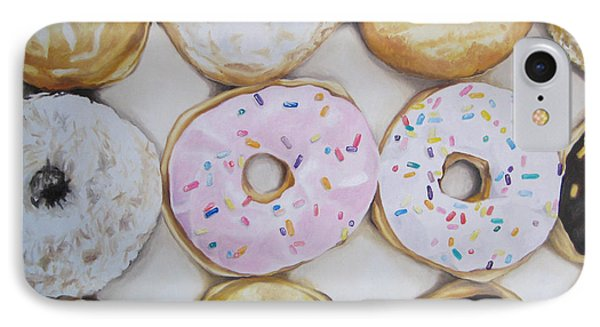 Yummy Donuts Phone Case by Jindra Noewi