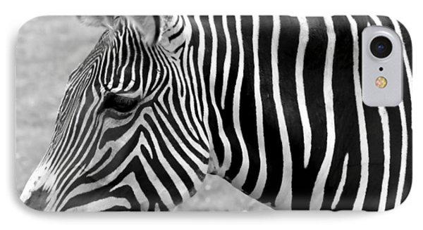 Zebra - Here It Is In Black And White Phone Case by Gordon Dean II