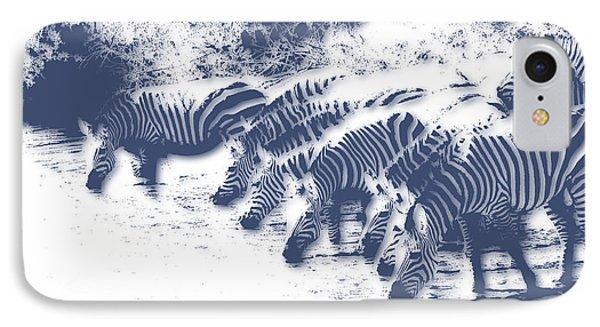 Zebra 3 IPhone Case by Joe Hamilton