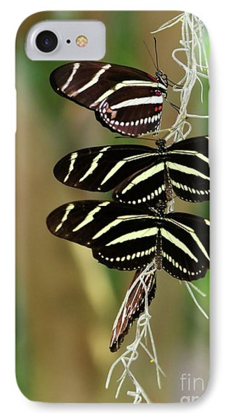 Zebra Butterflies Hanging On Phone Case by Sabrina L Ryan