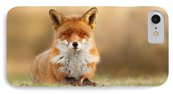 Zen Fox 3.0 IPhone Case by Roeselien Raimond