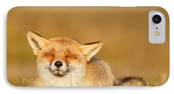 Zen Fox Series - Chill Fox IPhone Case by Roeselien Raimond