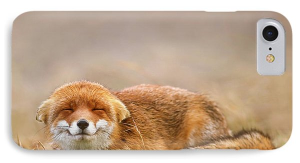 Zen Fox Series - Smiling Fox Is Smiling IPhone Case by Roeselien Raimond