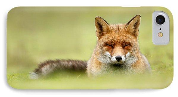 Zen Fox Series - Zen Fox In A Sea Of Green IPhone 7 Case by Roeselien Raimond