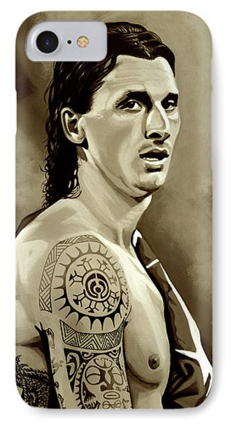 Zlatan Ibrahimovic Sepia IPhone Case by Paul Meijering