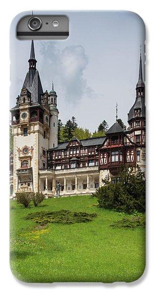 Romania, Transylvania, Sinaia, Peles IPhone 7 Plus Case by Walter Bibikow