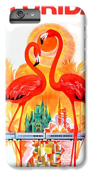Vintage Florida Travel Poster IPhone 7 Plus Case by Jon Neidert