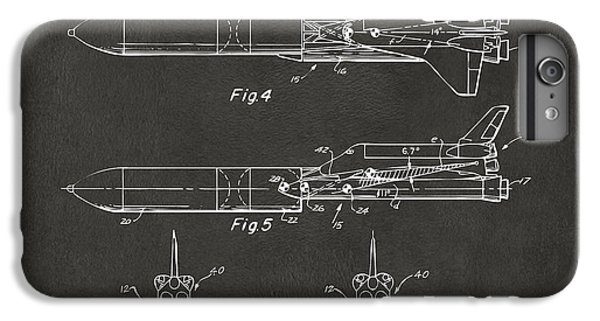 1975 Space Vehicle Patent - Gray IPhone 7 Plus Case by Nikki Marie Smith