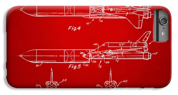 1975 Space Vehicle Patent - Red IPhone 7 Plus Case by Nikki Marie Smith