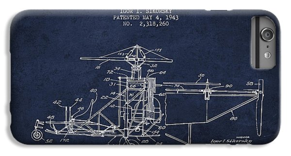 Sikorsky Helicopter Patent Drawing From 1943 IPhone 7 Plus Case by Aged Pixel