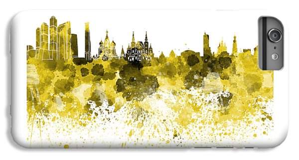 Moscow Skyline White Background IPhone 7 Plus Case by Pablo Romero