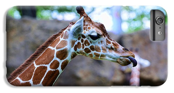 Animal - Giraffe - Sticking Out The Tounge IPhone 7 Plus Case by Paul Ward