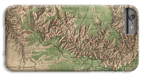 Antique Map Of Grand Canyon National Park By The National Park Service - 1926 IPhone 7 Plus Case by Blue Monocle