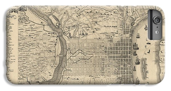 Antique Map Of Philadelphia By P. C. Varte - 1875 IPhone 7 Plus Case by Blue Monocle