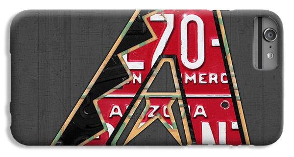 Arizona Diamondbacks Baseball Team Vintage Logo Recycled License Plate Art IPhone 7 Plus Case by Design Turnpike