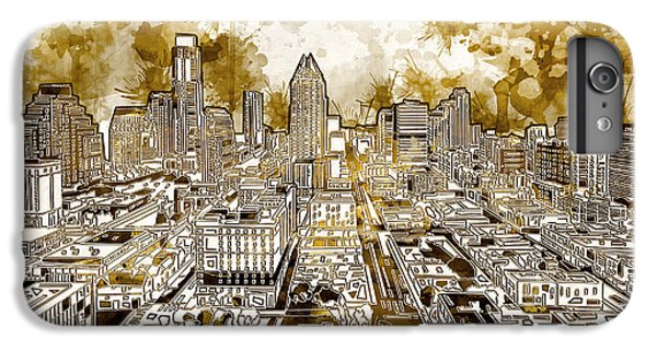 Austin Texas Abstract Panorama 6 IPhone 7 Plus Case by Bekim Art