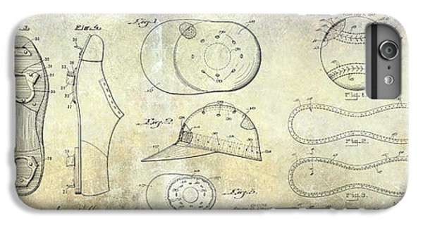 Baseball Patent Panoramic IPhone 7 Plus Case by Jon Neidert
