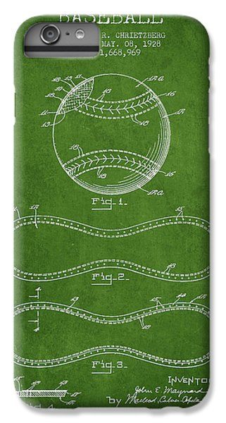 Baseball Patent Drawing From 1928 IPhone 7 Plus Case by Aged Pixel
