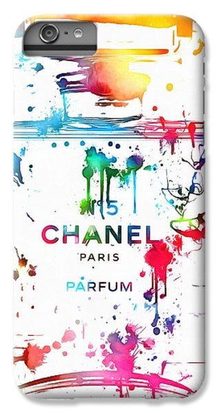 Chanel Number Five Paint Splatter IPhone 7 Plus Case by Dan Sproul