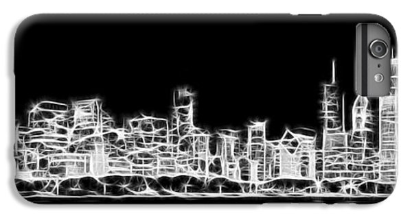 Chicago Skyline Fractal Black And White IPhone 7 Plus Case by Adam Romanowicz