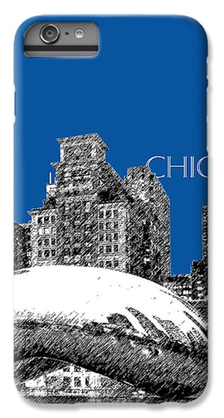 Chicago The Bean - Royal Blue IPhone 7 Plus Case by DB Artist