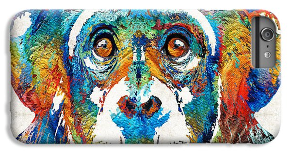 Colorful Chimp Art - Monkey Business - By Sharon Cummings IPhone 7 Plus Case by Sharon Cummings