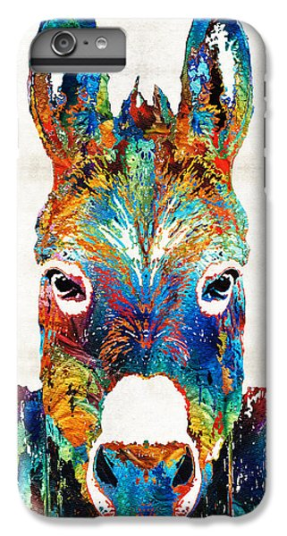 Colorful Donkey Art - Mr. Personality - By Sharon Cummings IPhone 7 Plus Case by Sharon Cummings