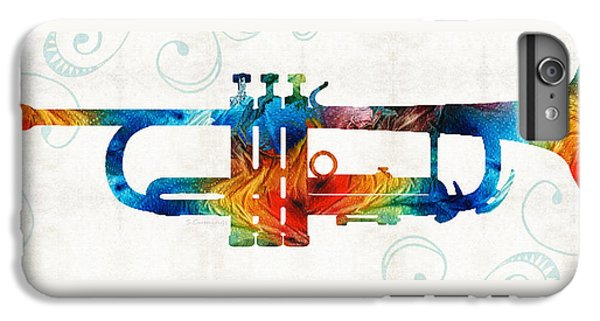 Colorful Trumpet Art Color Fusion By Sharon Cummings IPhone 7 Plus Case by Sharon Cummings