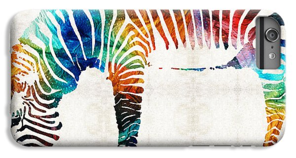 Colorful Zebra Art By Sharon Cummings IPhone 7 Plus Case by Sharon Cummings