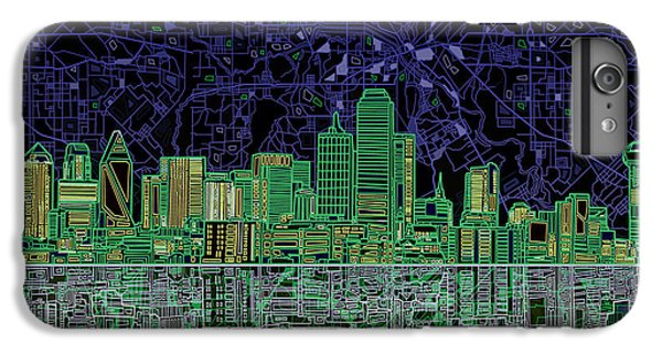 Dallas Skyline Abstract 4 IPhone 7 Plus Case by Bekim Art