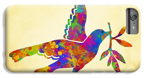 Dove With Olive Branch IPhone 7 Plus Case by Christina Rollo