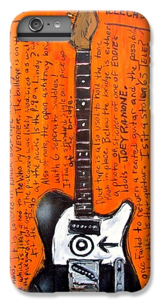 Eddie Vedder's Telecaster IPhone 7 Plus Case by Karl Haglund