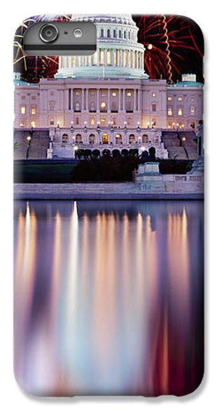 Firework Display Over A Government IPhone 7 Plus Case by Panoramic Images