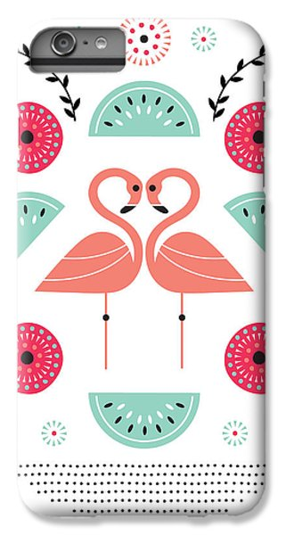 Flamingo Flutter IPhone 7 Plus Case by Susan Claire