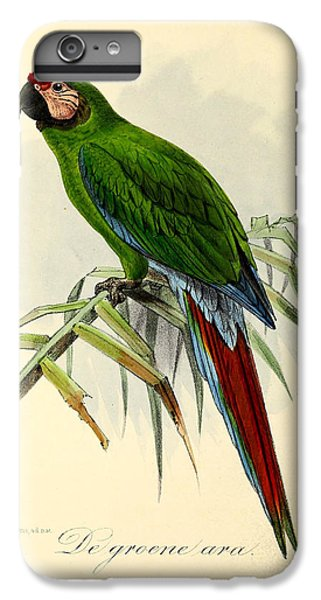 Green Parrot IPhone 7 Plus Case by J G Keulemans