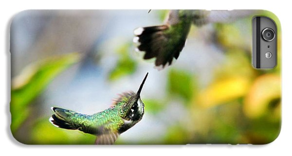 Hummingbirds Ensuing Battle IPhone 7 Plus Case by Christina Rollo