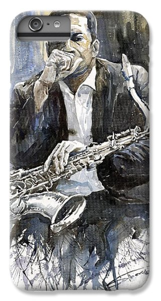 Jazz Saxophonist John Coltrane Yellow IPhone 7 Plus Case by Yuriy  Shevchuk