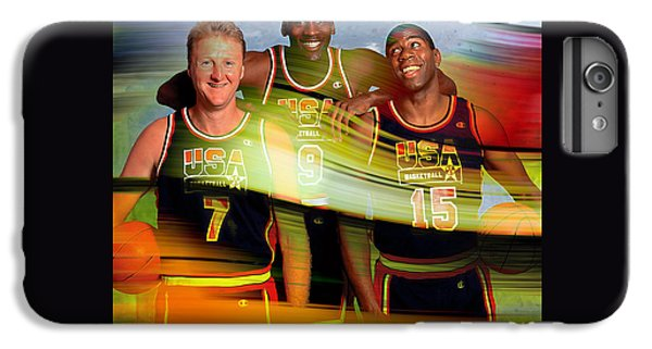 Larry Bird Michael Jordon And Magic Johnson IPhone 7 Plus Case by Marvin Blaine