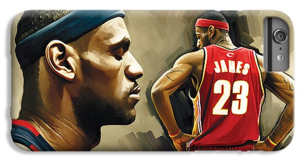 Lebron James Artwork 1 IPhone 7 Plus Case by Sheraz A