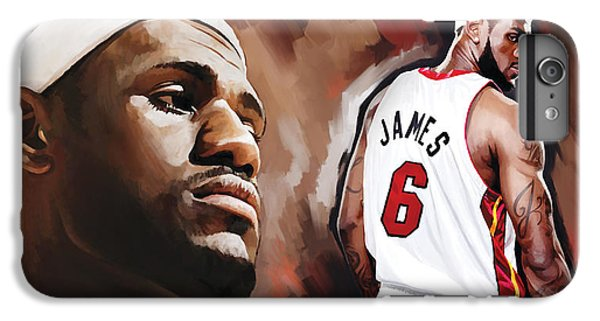 Lebron James Artwork 2 IPhone 7 Plus Case by Sheraz A