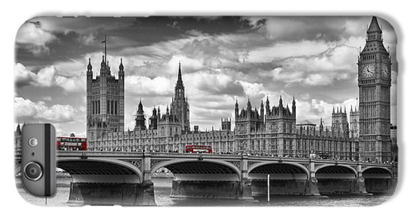 London - Houses Of Parliament And Red Buses IPhone 7 Plus Case by Melanie Viola