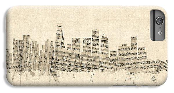 Los Angeles California Skyline Sheet Music Cityscape IPhone 7 Plus Case by Michael Tompsett