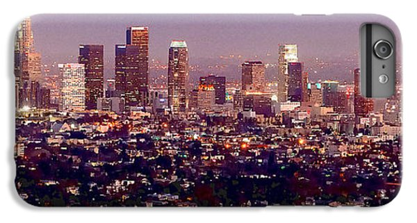 Los Angeles Skyline At Dusk IPhone 7 Plus Case by Jon Holiday
